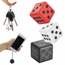 SQ16 HD 1080P Dice Camera Vlog Camera for Youtube Recording Night Vision Mini Camera - White