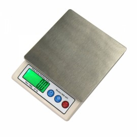 "MH-693 10kg/1g 2.2"" LCD Digital Kitchen Scale Herb Scale Silver Gray"