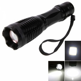 E6 T6 10W 5 Modes Focus Flashlight Torch Black