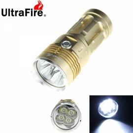 UltraFire Waterproof 4X-T6 4800 Lumen LED Flashlight Lamp Flashlight Golden