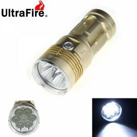 UltraFire Waterproof 7X-T6 7400 Lumen LED Flashlight Lamp Flashlight Golden