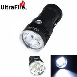 UltraFire Waterproof 4X-T6 4800 Lumen LED Flashlight Lamp Flashlight Black