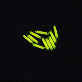 1.5 x 6mm Trit Vials for DQG Fairy LED Flashlight Yellow