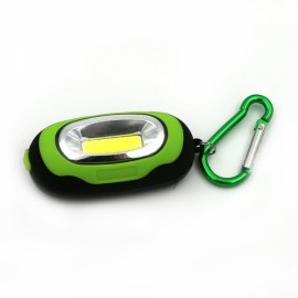 Portable Magnetic Torch COB Camping Light LED KeyChain Flashlight Green