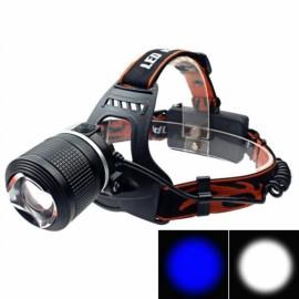 TEEKLAND IPX 6 1200LM 2 LED Waterproof Headlight Adjustable - Black