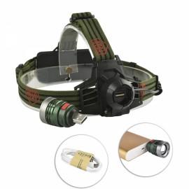 200 Lumens LED Bicycle Headlight Infinite Zoom Outdoor Sports Headlamp 3 Modes Adjustable Head Light White