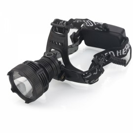 Headlight T6 500 Lumen USB Chargeable 4 Mode LED Headlamp Black