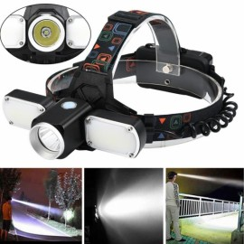 LED Headlamp 5000LM XM-L T6+2XPE 4 Modes Adjustable Travel Head Torch
