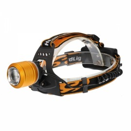 TEEKLAND 1200LM 2 LED Headlight Waterproof Adjustable IPX 6 - Golden