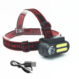 3W 2 COB + XPE LED 300LM Portable Mini Headlamp Work Light Waterproof Night Lighting Flashlight Outdoor Emergency Headlight With USB Cable