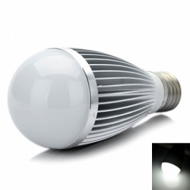 DB-CE703 E27 7W 665LM 6000K White 7-LED Light Bulb Silver (89~265V)