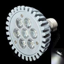 DB-YE701 E27 7W 6000K 665LM White 7-LED Spot Light Bulb Silver (AC 89-265V)