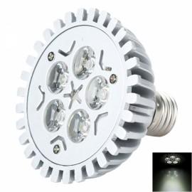 HDX-DB-004 E27 5W 430lm 6500K White Light LED Light Bulb Silver & Gray (220V)