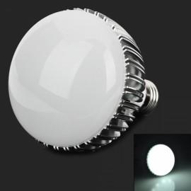 E27 12W 840LM 6000K White Light LED Bulb Silver & White (85-265V)