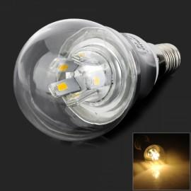 E14 5W 450LM 3000K 10 SMD 5730 LED Warm White Light Bulb Transparent (AC85-265V)