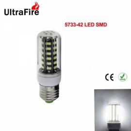 5pcs Ultrafire LED Corn Light 7W E27 Bulb 42-SMD 5733 - White Light