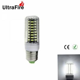 Ultrafire E27 8W 800lm 5500-6500K White Light 80-SMD5733 Non-Dimmable LED Corn Light Bulb (AC 220-240V)