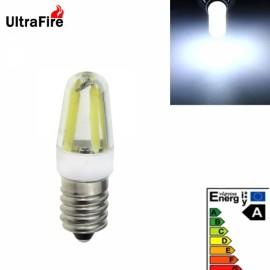 Ultrafire New E14 2W 4-LED 300LM 6500K White Light LED Bulb (AC 220V) White & Yellow