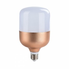 15W E27 Constant Current Flat Head Ultra White Light Bulb Golden (220V)