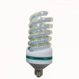 E27 30W SMD 2835 Spiral Shape LED Corn Light Bulb - Warm White