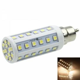 GU10 9W 48-LED 5050SMD 480-520LM 3000-3500K Warm White Light LED Corn Light White & Silver (AC/DC 12-24V)