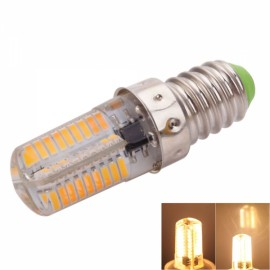 E14 4W 72-LED 4041SMD 3000-3500K Warm White Adjustable Silica Gel Corn Light (AC 110V)