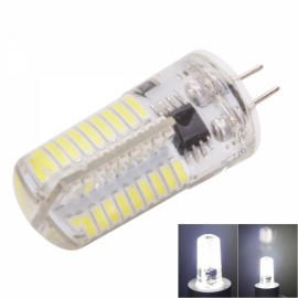 G4 4W 72-LED 4041SMD 6000-6500K White Adjustable Silica Gel Corn Light (AC 110V)