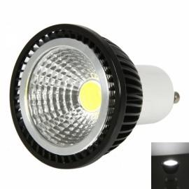 GU10 3W 240-270LM 6000-7000K White Light Dual-Ring Wrinkled Surface COB LED Bulb Black (85-265V)