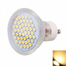 GU10 4W 44x3528 SMD LED 2800-3200K Warm White Glass Spotlight with Cover (220V)