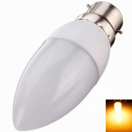 B22 3W 10 LED 2835SMD 2800K-3200K Warm White Light Cusp LED Candle Lamp