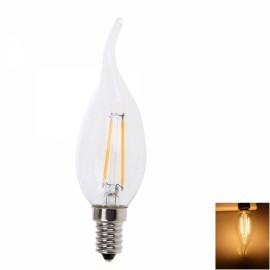 E14 4W 2700K-3300K Warm White Light Transparent Peak LED Candle Light White (220V)
