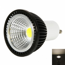 GU10 3W 240-270LM 2800-3200K Warm White Light Dual-Ring Wrinkled Surface COB LED Bulb Black (85-265V)