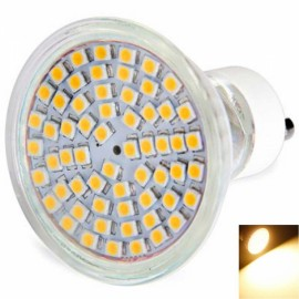 GU10 4.5W 60x3528 SMD LED 2800-3200K Warm White Glass Spotlight with Cover (220V)