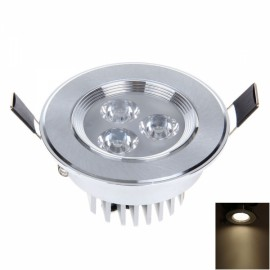 3W 3LED 250LM 3000K Warm White Light Ceiling Lamp with LED Driver Silver (AC110-240V)