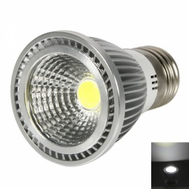 E27 5W 400-450LM 6000-7000K White Light Dual-Ring Wrinkled Surface COB LED Bulb Silver (85-265V)