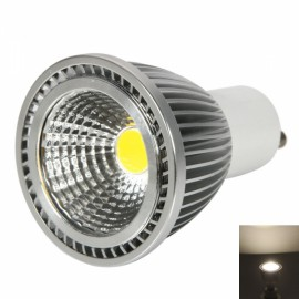 GU10 5W 400-450LM 2800-3200K Warm White Light Dual-Ring Wrinkled Surface COB LED Bulb Silver (85-265V)