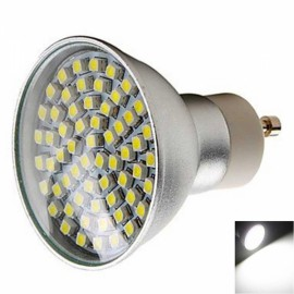 GU10 4.5W 60x3528SMD LED 6000-6500K White Aluminum Casing Spotlight (200V)