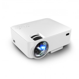 T20 Portable LED Projector HD 1080P Home Theater - US Plug, White