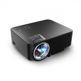 T20 Portable LED 1500 Lumens Projector 1080P Home Theater - US Plug Black