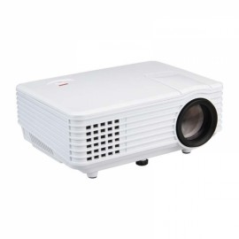 RD-805 LCD LED Projector HDMI VGA USB AV SD TV - White US Plug
