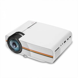 YG-400 LCD Mini 1080P 1000 Lumen LED Projector - White EU Plug