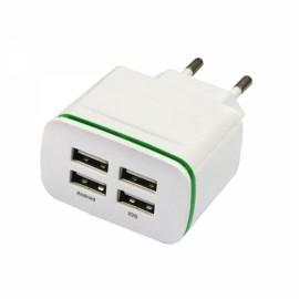 4USB AC100-240 4A Mobile Phone Charger With Green Light EU Plug