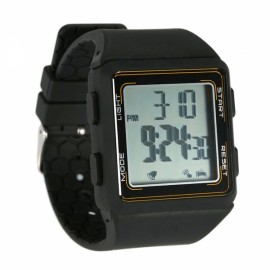 Professional Pedometer Stopwatch Fitness Tracker Sports Wrist Watch Black