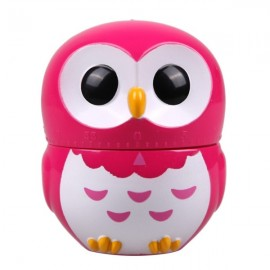 Cute Cartoon Owl Shape Timer 60-Minute Count Down Kitchen Timer Rose Red