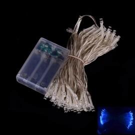 80 LED Battery Powered Blue Light LED String Light