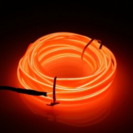 5M Led Flexible Soft Tube Wire Neon Glow Car Rope Strip Light Orange