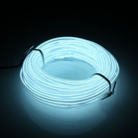 5M Led Flexible Wire Neon Glow Car Rope Strip Light DC 12V - White