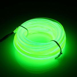5M EL LED Strip Light Flexible DC 12V - Fluorescence Green