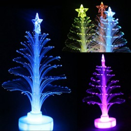 Colorful LED Fiber Optic Night Light Christmas Tree Lamp Children Xmas Gift