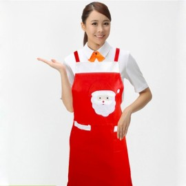 Santa Claus Apron Kitchen Cooking Tool Red